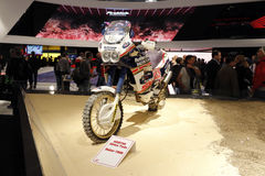 The paris dakar winner honda africa twin 1999 Stock Images