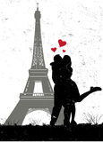 Paris dans l'amour illustration de vecteur