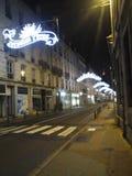 Paris. Dans une avenue de noel Royalty Free Stock Photo