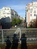 Paris. Dans une avenue de noel Royalty Free Stock Images
