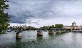 Paris - das Pont des Arts stockbild