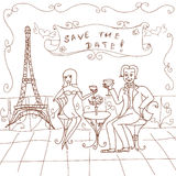 Paris Date Card Royalty Free Stock Photo