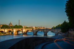 Paris at dawn Stock Images