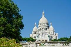 Paris - 12 de setembro de 2012: Basilique du Sacre Coeur o 12 de setembro em Paris, França Basilique du Sacre Coeur é Foto de Stock