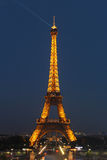 PARIS - 4 DE SETEMBRO: Mostra clara do desempenho Foto de Stock Royalty Free