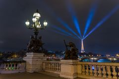 Bridge of the Alexandre III, Paris Royalty Free Stock Photos