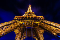 PARIS - DECEMBER 05: Lighting the Eiffel Tower on December 05, 2 Stock Image