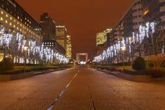 paris Defesa da noite Fotos de Stock Royalty Free