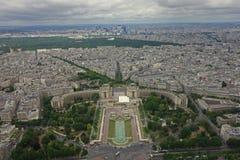 Paris - der Charme der Stadt Ansicht vom Eiffelturm Lizenzfreie Stockfotografie