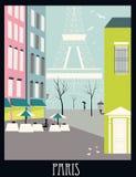 Paris an der Dämmerung Stockfotos