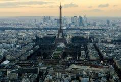 Paris an der Dämmerung von der Spitze Stockfoto