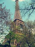 Paris, der Eiffelturm Stockbild