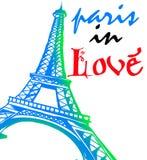 Paris in der Liebe für immer vektor abbildung