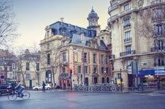 Paris, Des Celestins street. Ancient architecture of the house Stock Image