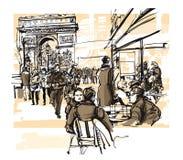 Paris - DES Champs-Elysees d'avenue illustration stock