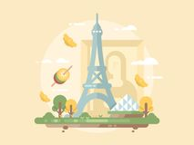 Paris design flat Stock Photos
