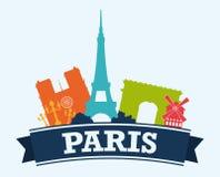 Paris design,  illustration. Stock Photography