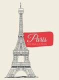 Paris design,  illustration. Stock Photos