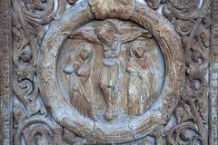 Paris - detail from gate of Saint Denis Royalty Free Stock Photo
