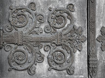 Paris - detail of gate of Saint Denis cathedral Stock Image