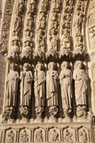 Paris - detail from main portal of Notre Dame Royalty Free Stock Photo