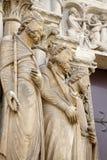 Paris - detail of portal from Saint Denis Royalty Free Stock Photo