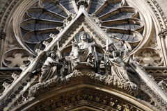 Paris - detail from Saint Clothilde gothic church Royalty Free Stock Image