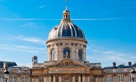Paris, detalhe dourado da abóbada do de France do instituto Fotos de Stock
