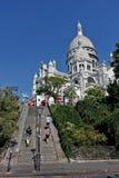 Paris die Basilika des heiligen Herzens stockbilder
