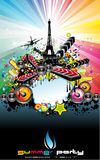 Paris Disco Event Background Stock Photography