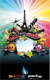 Paris Disco Event Background Stock Photography