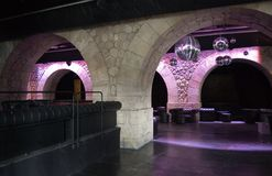 Paris Discotheque under the bridge Royalty Free Stock Photography