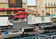 Paris - Disney Studios, Stunt Car Jump Stock Photo