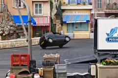Paris - Disney Studios, Stunt Car on two wheels. Paris - Disney Studios, Disneyland - Moteurs Action Stunt Show Spectacular Royalty Free Stock Images