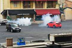 Paris - Disney Studios, Stunt Cars Fighting Royalty Free Stock Image