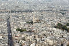 Paris district. Bird view. Paris district. View from above Stock Photo