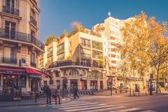 Paris district Le Pere Lachaise Royalty Free Stock Images