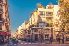 Paris district Le Pere Lachaise Royalty Free Stock Photography