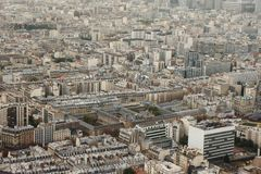 Paris district. View from above. Texture like Royalty Free Stock Photo