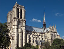 Paris - domkyrka av Notre Dame Arkivfoto
