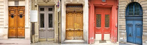 Paris' door collection Royalty Free Stock Photo