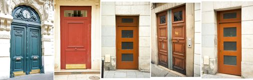 Paris' door collection Royalty Free Stock Photography
