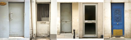 Paris' door collection Stock Images