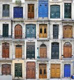 Paris doors. Collage made of doors from Paris, France Stock Images