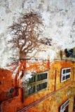Paris double exposure windows. Grunge Royalty Free Stock Images