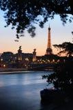 Paris at dusk Royalty Free Stock Image