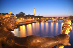 Paris at dusk Stock Photos