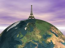 Paris and earth Royalty Free Stock Photo