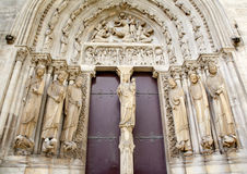 Paris - east portal of Saint Denis Royalty Free Stock Images