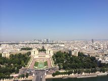 Paris eifeltower view royalty free stock images